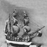 Modell der englischen Fregatte ,,Great Harry'' gestiftet dem Deutschen Museum